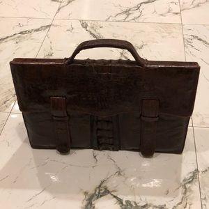 Crocodile briefcase